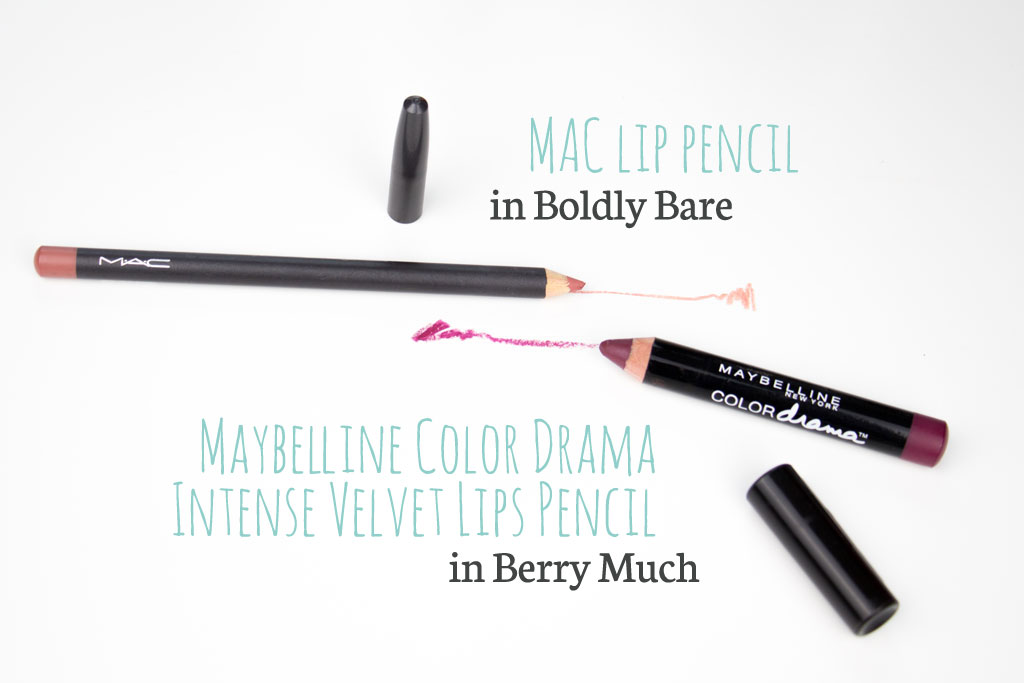 MAC and Maybelline lip pencil