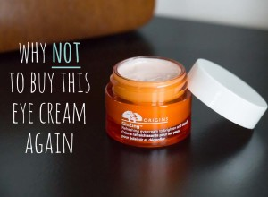 Why I will not buy this eye cream again