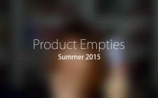 Product Empties Summer 2015